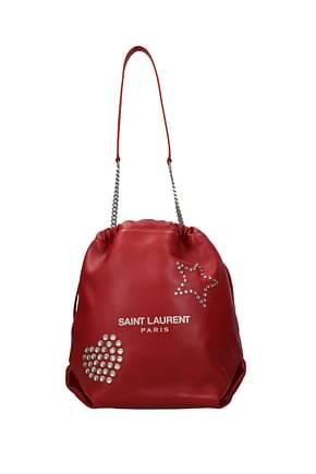 Saint Laurent Shoulder bags pochon Women Polyamide Red