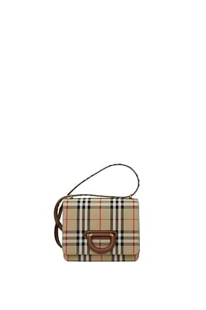 Burberry Crossbody Bag Women Fabric  Beige