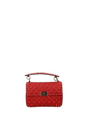Valentino Garavani Handbags rockstud Women Leather Red