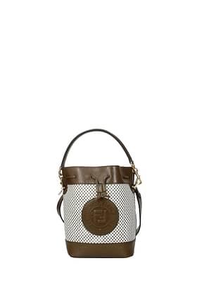 Fendi Handbags mon tresor Women Leather White Brown