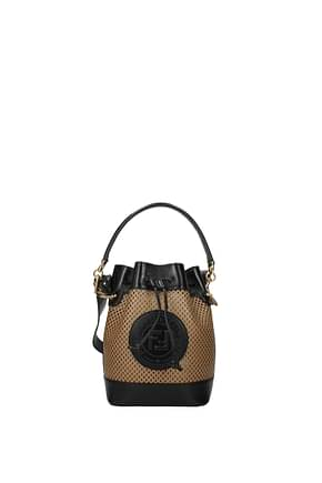 Fendi Handbags mon tresor Women Leather Brown Black