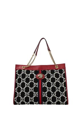 Gucci Shoulder bags Women Fabric  Black Red