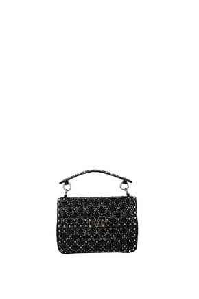 Valentino Garavani Handbags rockstud Women Leather Black