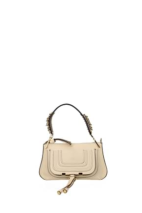 Chloé Handbags Women Leather Beige