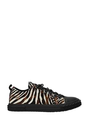Giuseppe Zanotti Sneakers blabber Men Pony Skin Multicolor