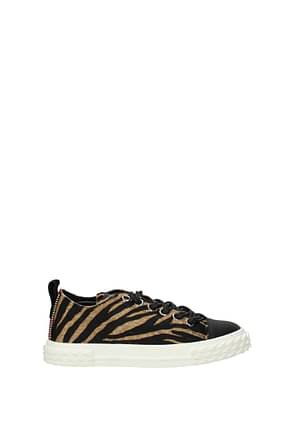 Giuseppe Zanotti Sneakers blabber Women Pony Skin Brown
