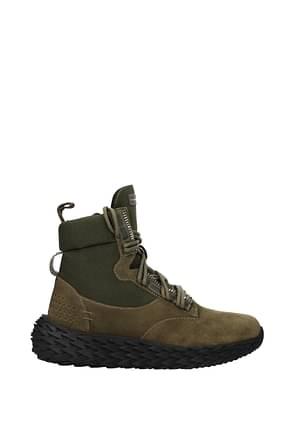 Giuseppe Zanotti Ankle Boot Men Suede Green