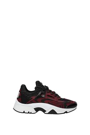 Kenzo Sneakers Women Fabric  Red