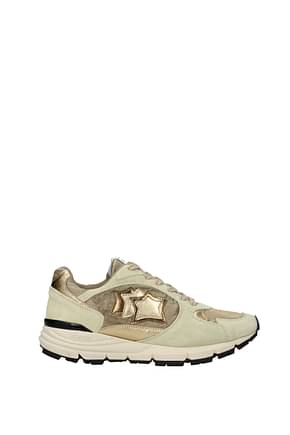 Atlantic Stars Sneakers vibram Damen Stoff Gold Beige