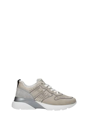 Hogan Sneakers active Women Suede Beige