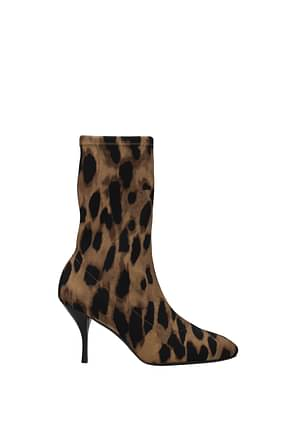 Stuart Weitzman Ankle boots slaine Women Fabric  Brown