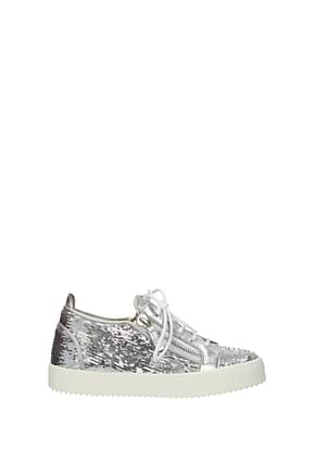 Giuseppe Zanotti Sneakers may london Women Sequins Silver
