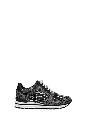 Michael Kors Sneakers billie Damen Leder Schwarz Weiß