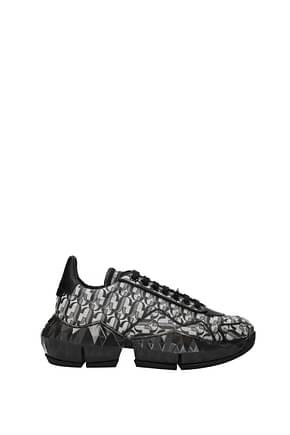 Jimmy Choo Sneakers Femme Tissu Argent