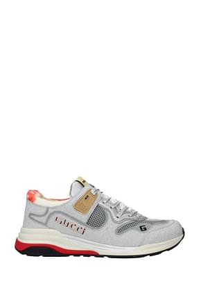 Gucci Sneakers Women Fabric  Silver