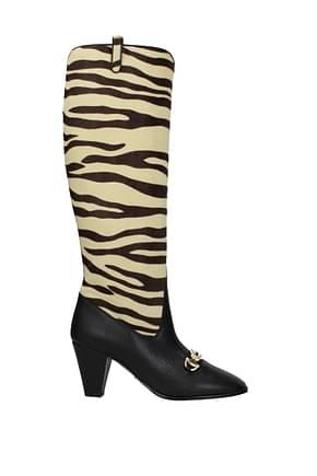 Gucci Boots Women Pony Skin Beige