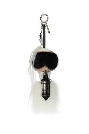 Fendi Key rings karlito Women Mink White
