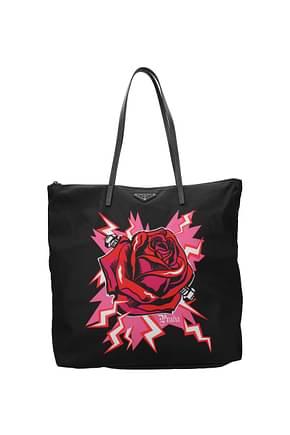 Prada Shoulder bags frankenstein collection Women Fabric  Black Red