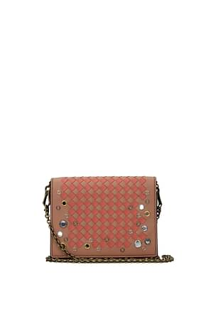 Bottega Veneta Clutches Women Leather Pink