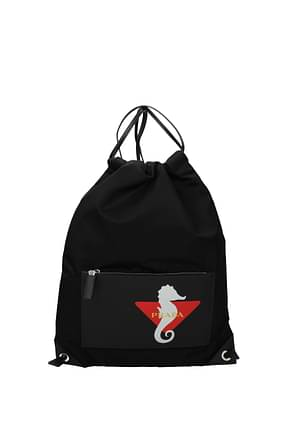 Prada Backpack and bumbags Men Fabric  Black Black
