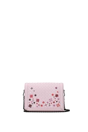 Bottega Veneta Crossbody Bag Women Leather Pink