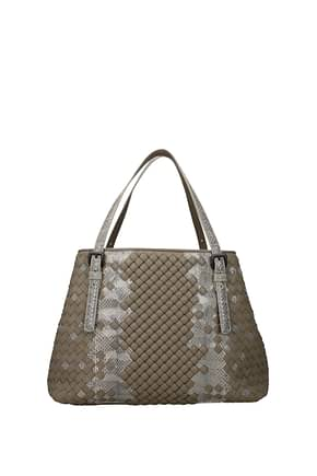 Bottega Veneta Handbags Women Leather Gray
