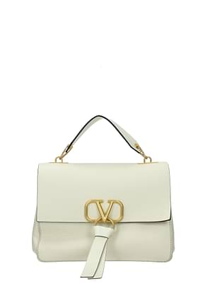 Valentino Garavani Handbags Women Leather Beige