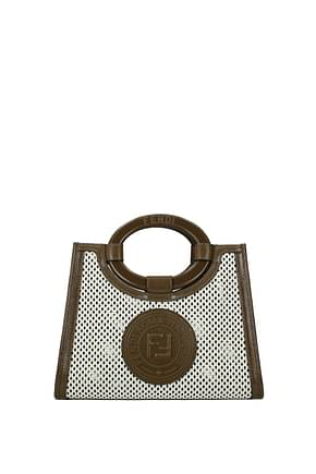 Fendi Handbags Women Leather White