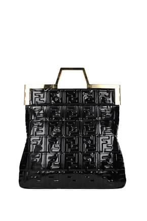 Fendi Handbags Women Patent Leather Black