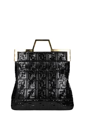 Fendi Handbags Women Patent Leather Black