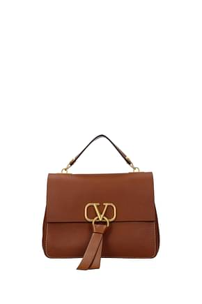 Valentino Garavani Handbags Women Leather Brown