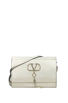 Valentino Garavani Crossbody Bag Women Leather Gold
