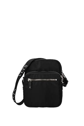 Valentino Garavani Crossbody Bag vltn Men Fabric  Black