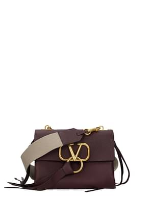 Valentino Garavani Crossbody Bag Women Leather Violet