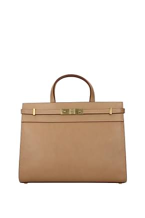 Saint Laurent Handbags manhattan Women Leather Beige