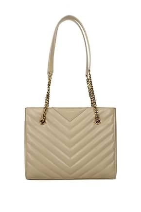 Saint Laurent Shoulder bags tribeca Women Leather Beige