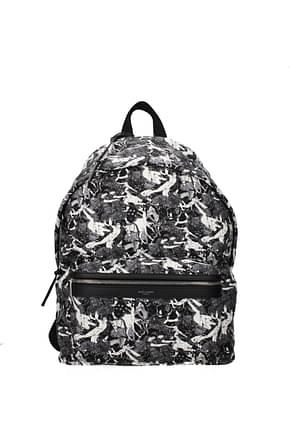 Saint Laurent Backpack and bumbags Men Fabric  Gray