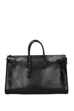 Saint Laurent Handbags sac de jour Men Leather Black
