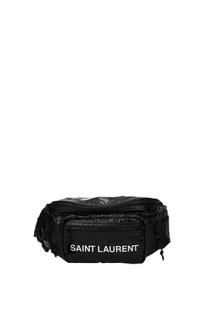 Saint Laurent Backpack and bumbags Men Fabric  Black