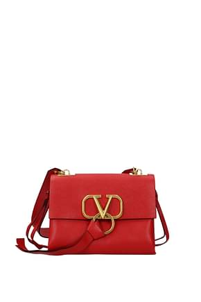 Valentino Garavani Shoulder bags Women Leather Red