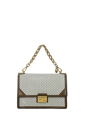 Fendi Handbags kan Women Leather Beige