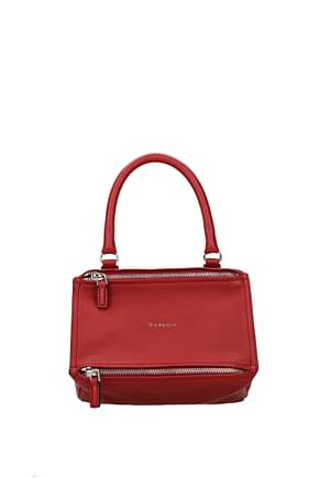 Givenchy Handbags pandora small Women Leather Red Dark Red