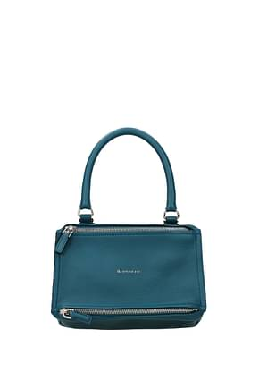 Givenchy Handbags pandora small Women Leather Blue Dk Chambray