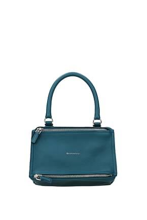 Givenchy Handbags pandora small Women Leather Blue Dk Chambray