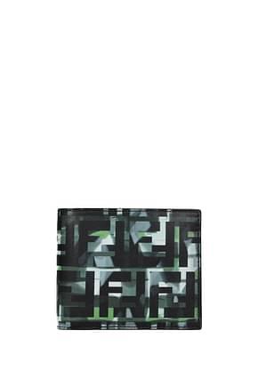Fendi Wallets Men Leather Green