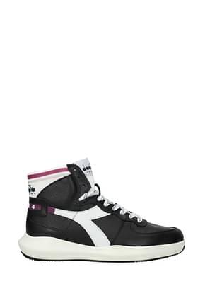Diadora Heritage Sneakers basket Men Leather Black White