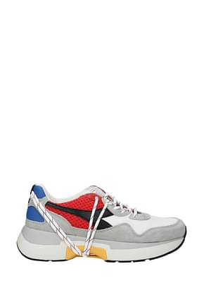 Diadora Heritage Sneakers txs h mesh Men Fabric  White Red