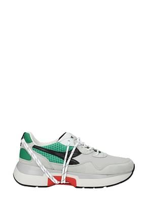 Diadora Heritage Sneakers txs h mesh Men Fabric  Gray Green