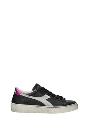 Diadora Heritage Sneakers montecarlo Women Leather Black Fluo Pink