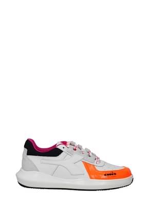 Diadora Heritage Sneakers mi basket Women Leather White Black